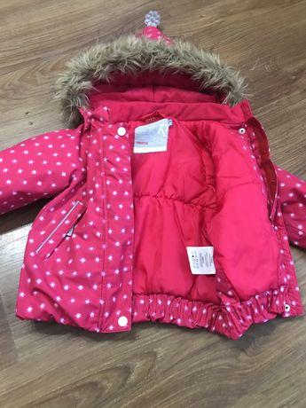 Зимняя куртка на девочку фирмы reima
