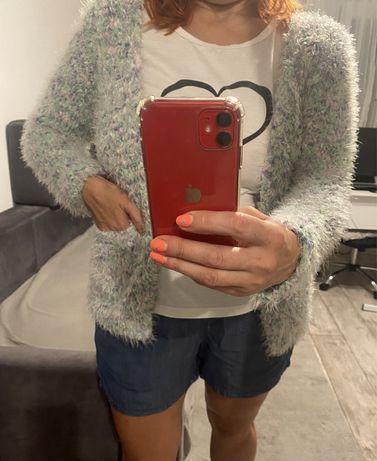 Puchaty sweter - kardigan