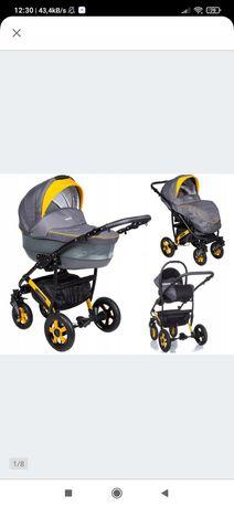 Wózek 3w1 camarelo carrera, gondola, spacerówka, fotelik samochodowy