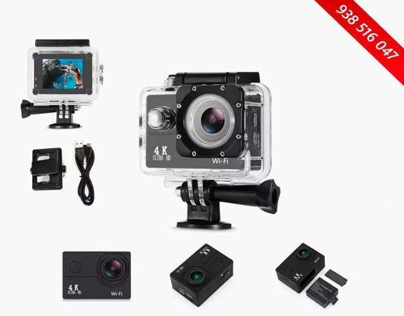 NOVA - Action Camera Ultra HD 4K - WiFi - GoPro - Prova água Desporto