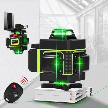 Лазерный уровень Hilda 4D 16 линий с дисплеем заряда