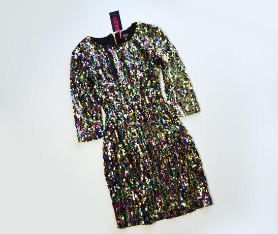 Роскошное переливающее платье в пайетки