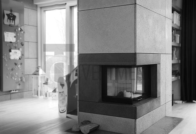 Płyty ścienne betonowe Obudowa kominka Beton architektoniczny SLABB