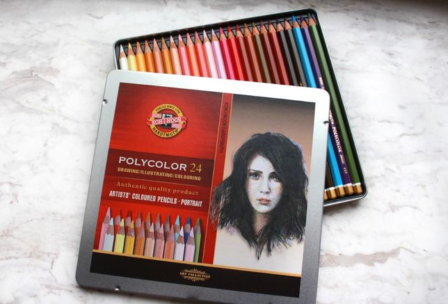Новые цветные карандаши koh-i-noоr Polycolor (оригинал Чехия) 24 цвета