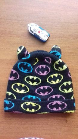 Шапка с ушками Бэтмена зима 50р.