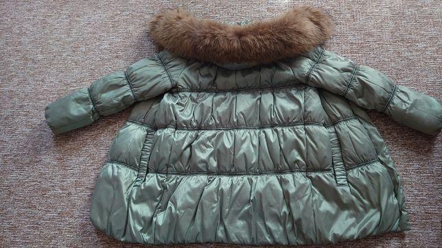 Куртка зимняя CLASNA, с натуральным мехом 46-48