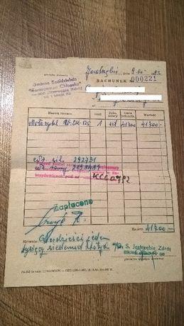Dowód zakupu paragon rachunek motocykl WSK 125, r. 1983 zabytek