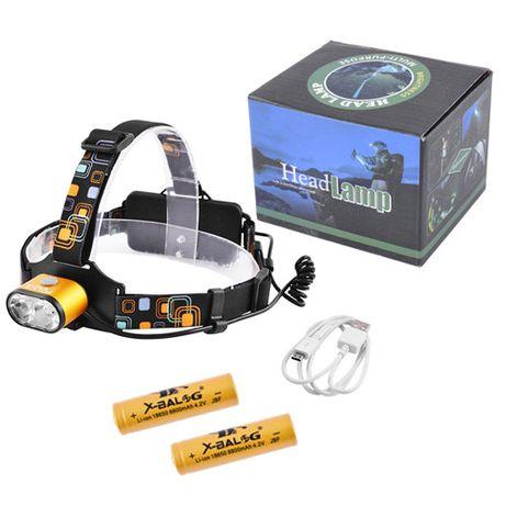Фонарь налобный Police 2128-2T6, ЗУ micro USB фонарик на лоб