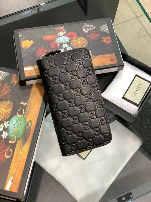 Кожаный кошелек клатч портмоне бумажник органайзер Гуччи Gucci k327 Одесса - изображение 1
