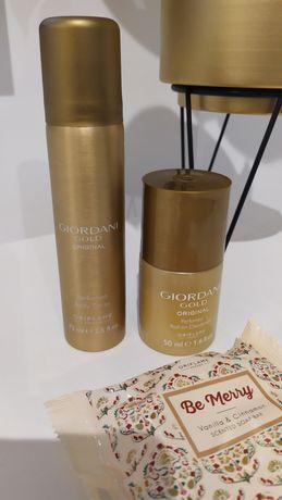 Zestaw nowych kosmetyków Oriflame Giordani Gold Body Spray Roll-on