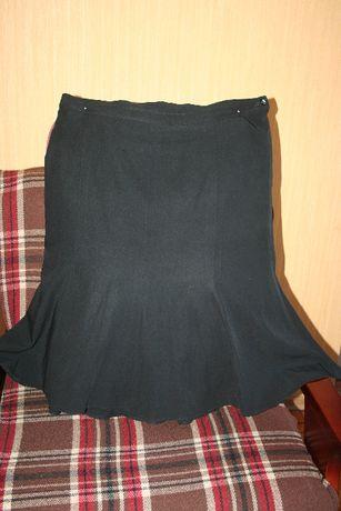 Юбка годе черная из габардина в отличном состоянии, размер 58-60