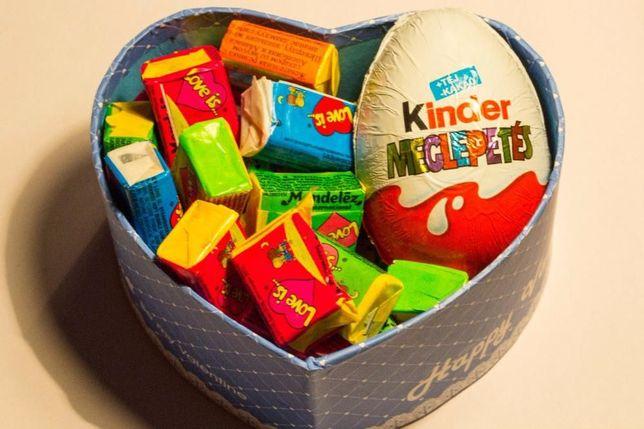 Подарочные сладкие наборы для любимых. Love is. kinder . №2 мини