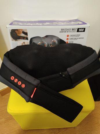 Cinto de Massagem/Massageador 2 velocidades aquecido com luz de led