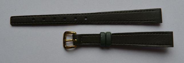 Damski zielony pasek do zegarka 10 mm. Nowy! Skórzany! Wysoka jakość!