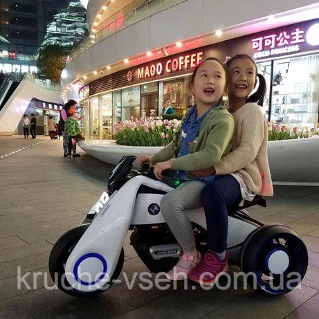 Детский электромобиль Мотоцикл M 3926, BMW_Hurricane, надувные колеса