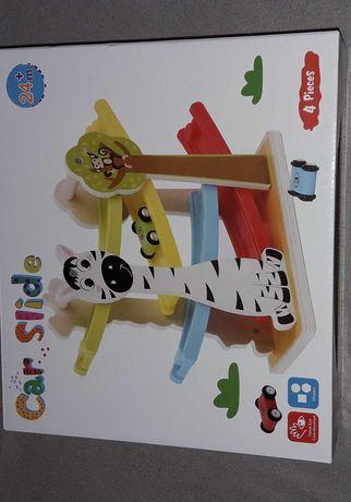 Car slide zjeżdżalnia dla dziecka nowa 3 autka drewniany tor