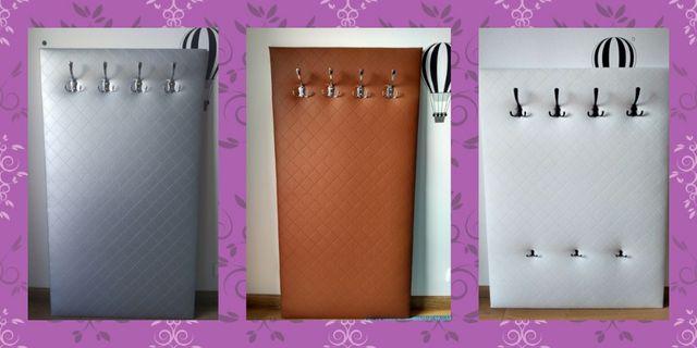 Meble Wieszak ubraniowy panel ekoskóra Hit kolory wybór garderoba