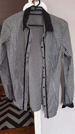 koszula w czarno-białą kratkę marki mohito ozmiar xs