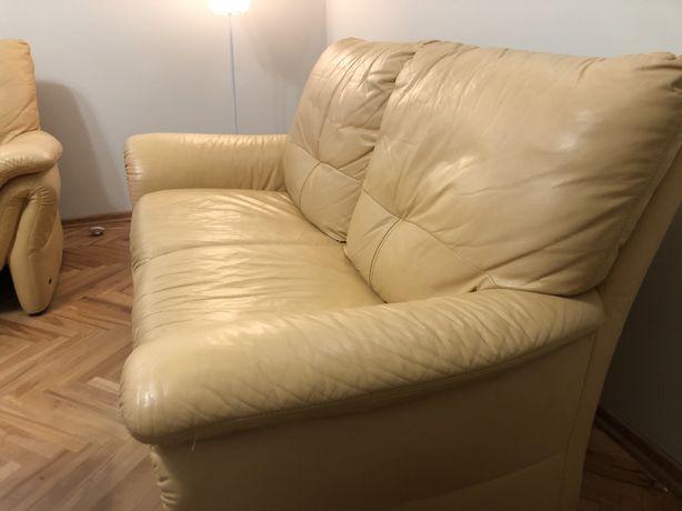 Skórzane sofy i fotel, LongLife
