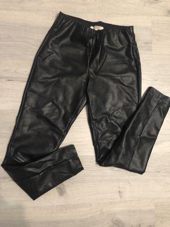 Кожаные лосины штаны брюки мом