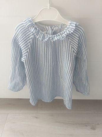 Śliczna bluzka h&m 98 z falbanką