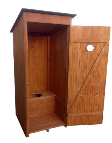 WC toaleta szalet wychodek drewniany na działkę budowę
