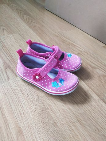 Różowe buciki dla dziewczynki na rzep r. 25