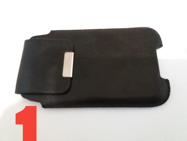 Czarne etui do smartfon telefon pokrowiec na pasek z magnesem