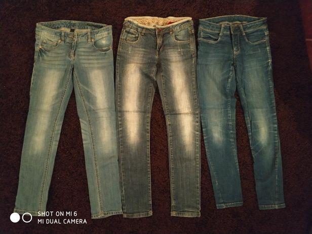3 pares de calças de ganga