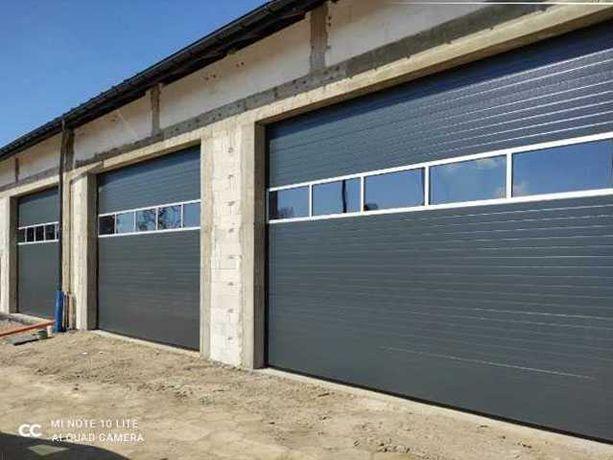 Brama garażowa segmentowa 3000x2500 antracyt Czyste powietrze