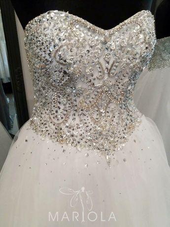 Suknia ślubna princeska kamienie