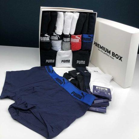 Чоловіча білизна Puma, Подарчный набор трусов и носков Пума Подарок