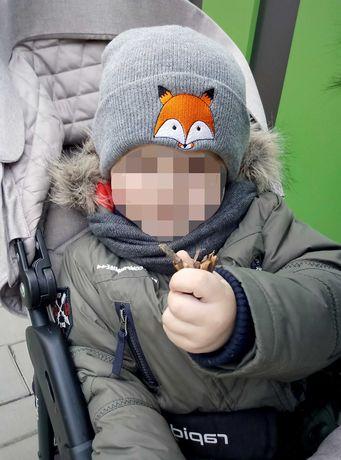 Дитяча шапка, 0-3р (лис, лисичка,  Fox) з відворотом