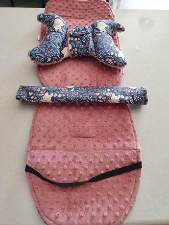 Wkład, ochraniacze do wózka spacerowego dla dziewczynki