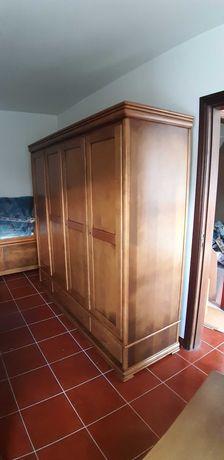 Mobilia Quarto Casal Completo Madeira de Castanho