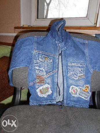 куртка детская джинсовая