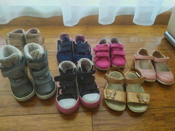 Komplet bucików dla dziewczynki rozmiar 25