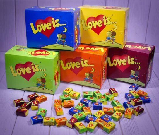 Ассорти жвачка Love is... (все 5 вкусов) (без предоплаты)