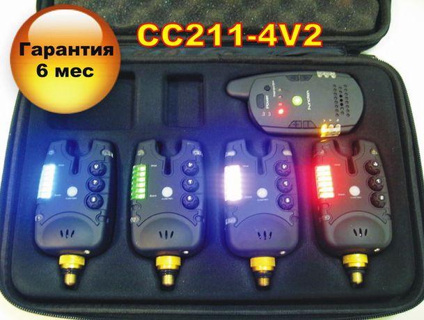 CarpCRUISER FA211-4V2 Набор Сигнализаторов Поклевки (4+1) с пейджером