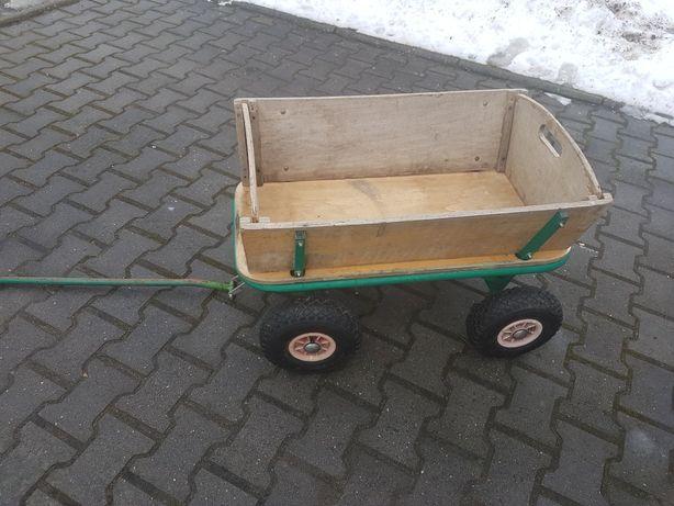 Wózek przyczepka do ogrodu dla dzieci