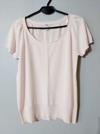 Pastelowa bluzka pudrowy róż/ hm / rozm L/ 100 % bawełna