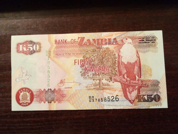 Banknot 50 kwacha Zambia