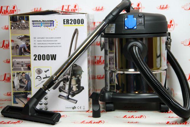 Пылесос cтроительный EURO CRAFT ER2000. Нержавейка. Промышленный