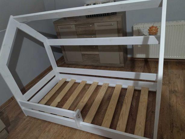Łóżeczko domek białe drewniane