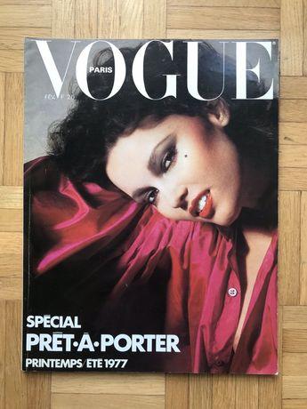 Francuski archiwalny magazyn Vogue z 1977r. nr. 573
