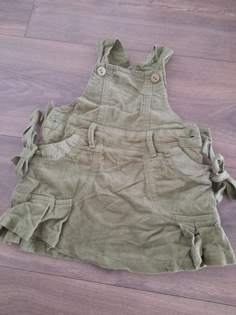 Sukienka sztruksowa zielona 62 68