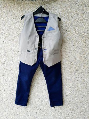 Костюм,комплект:стрейчевые брюки и жилетка