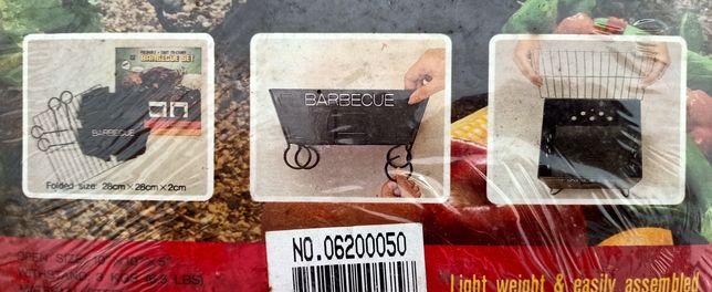 Grelhador barbecue portátil em aço