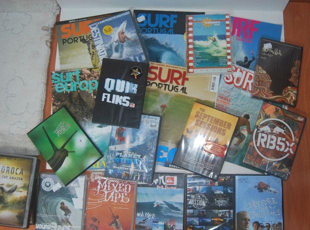 21 Filmes de SURF em DVD + 6 revistas