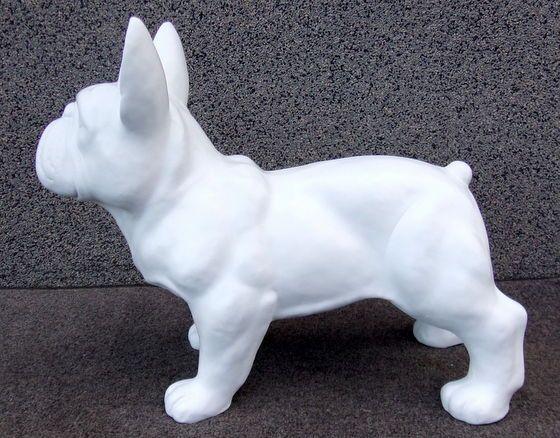 Figurka buldoga francuskiego (białego)